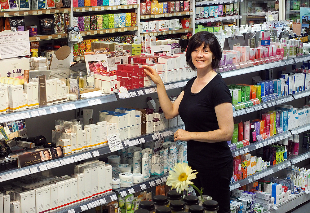 Dee Cotter of Organico, in the shop