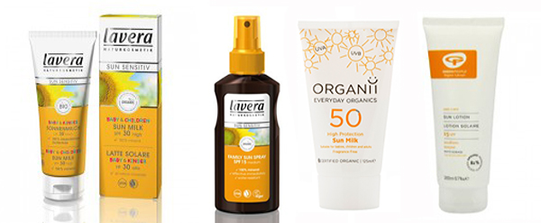 sun screen products at Organico