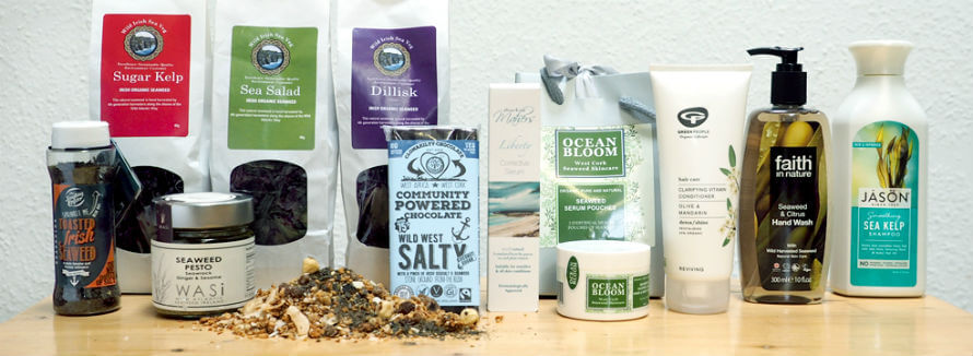 A selection of seaweed food and body products available at Organico