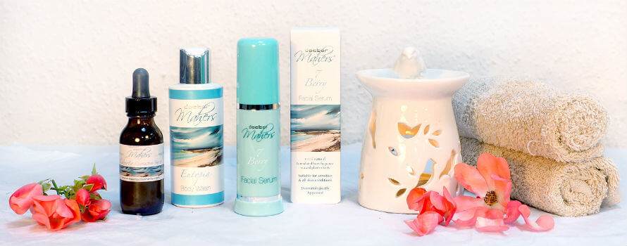 Doctor Mahers skincare products containing rosehip oil