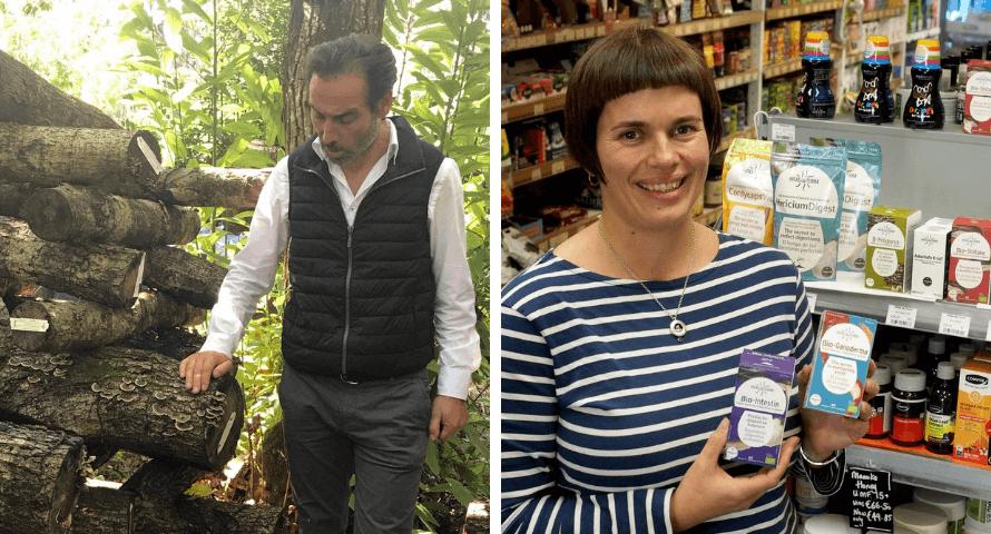Hifas da Terra farm and their medicinal mushroom products at Organico