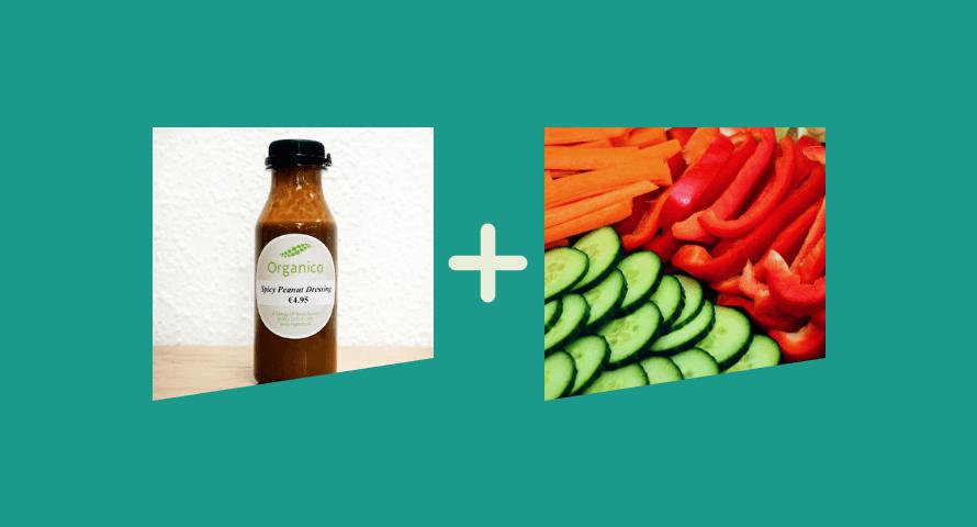 Healthy Snacks: Peanuty Vegetables