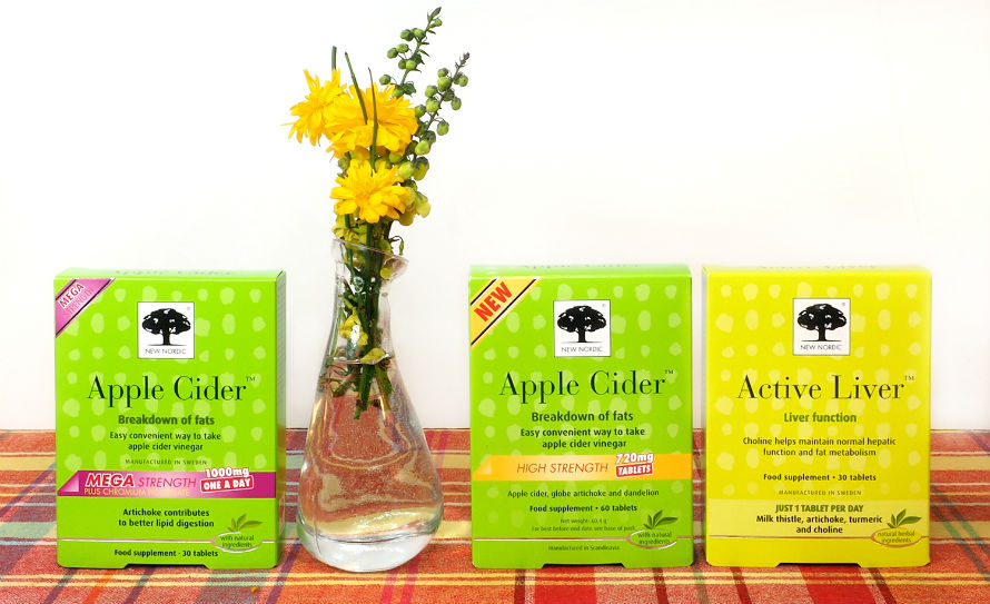 New Nordic Apple Cider Vinegar and Active Liver at Organico