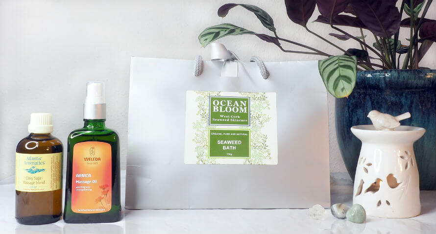 Bath and massage products for mental wellbeing at Organico