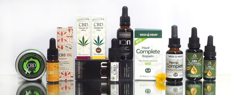 CBD oil products available at Organico