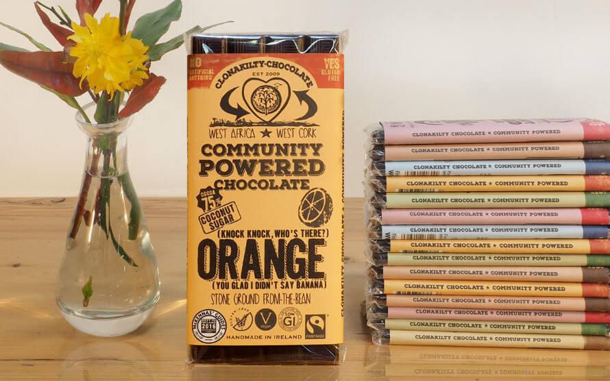 Clonakilty Chocolate Bars at Organico