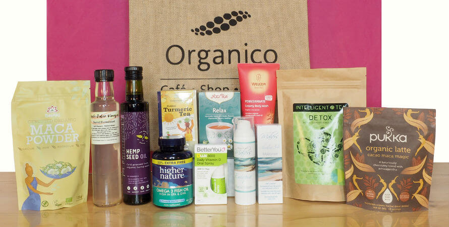 March Giveaway from Organico - hamper full of healthy products