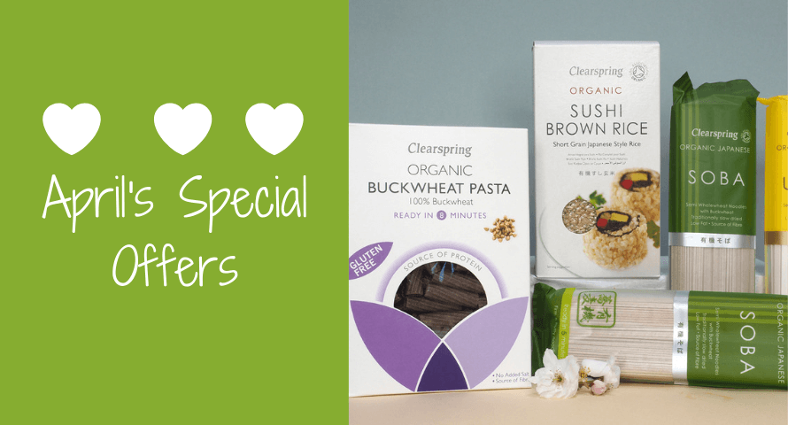 A range of Clearspring organic Japanese foods on special offer at Organico