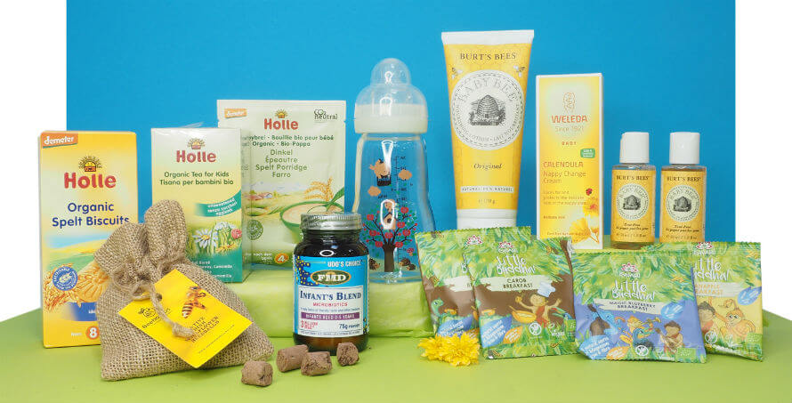 Baby products for April Hamper Giveaway at Organico