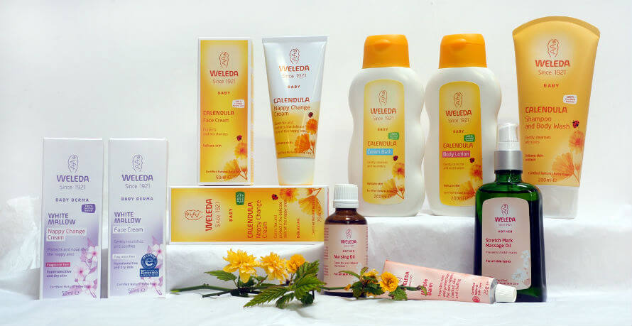 Weleda products for Baby and Mum available at Organico