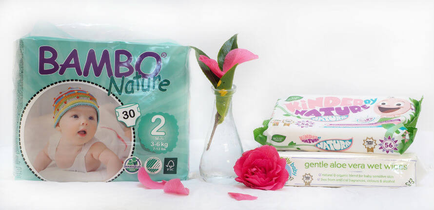 Eco-friendly nappies and baby wipes available at Organico