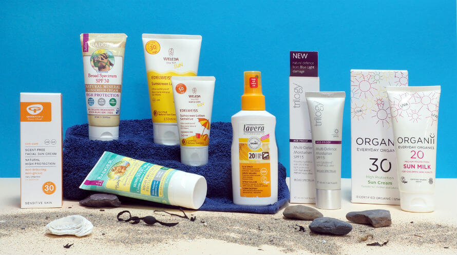 Natural Sunscreen products available at Organico