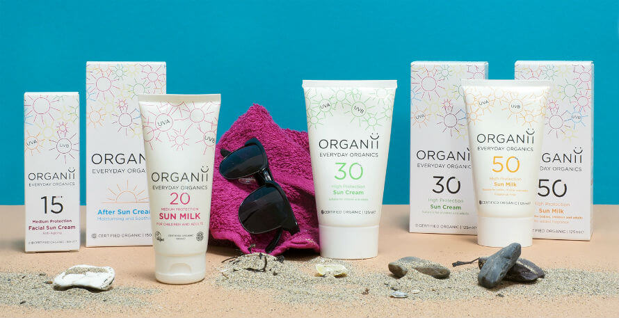 Organii Sun Protection products available at Organico