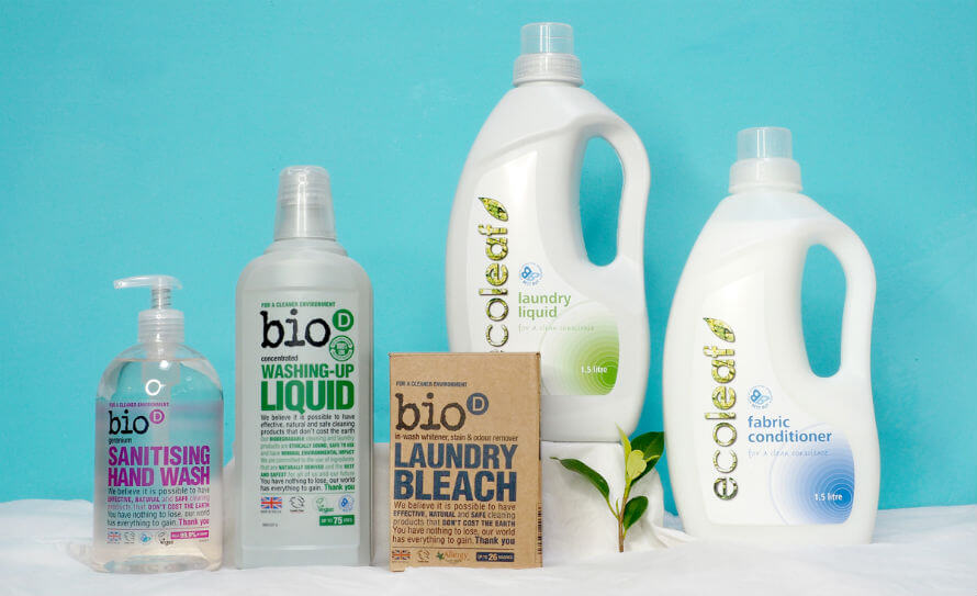 Bio-D and Ecoleaf eco-friendly cleaning supplies