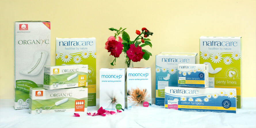 Feminine Care Products and Menstrual Cups available at Organico