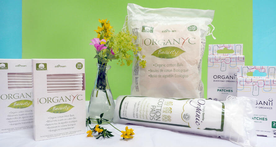 Organic paper and cotton bathroom products available at Organico