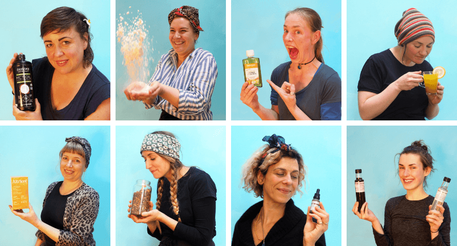 Portraits of Organico staff and their product recommendations