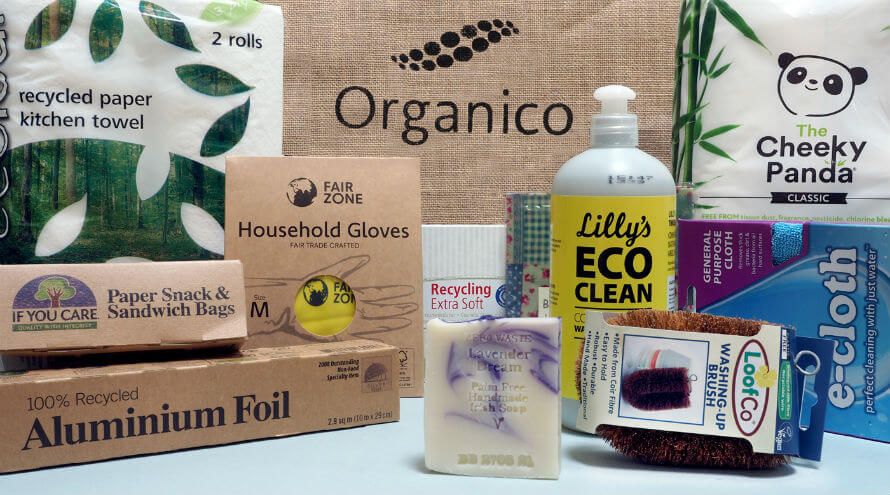 Contents of the Zero-Waste Household Starter Pack available at Organico