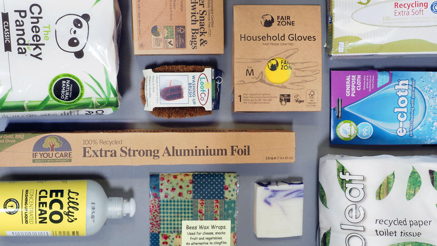Content of the Zero-Waste Household Starter Pack available at Organico