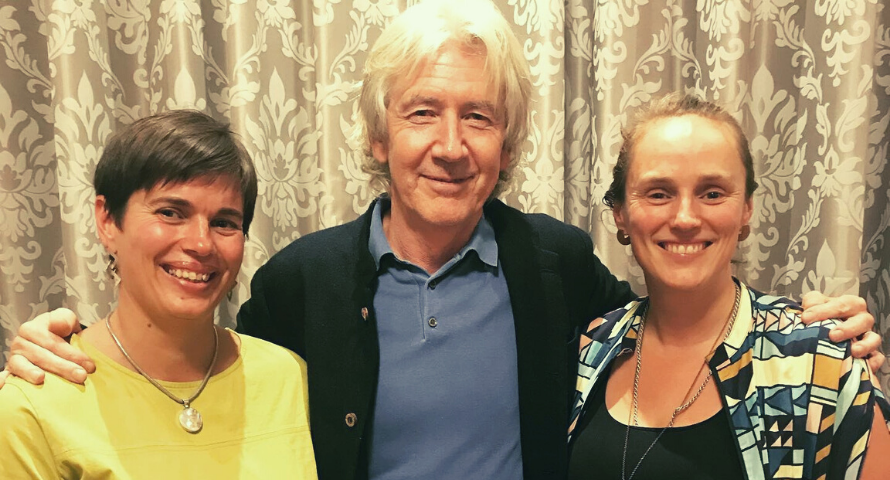 Nutrition expert Patrick Holford with Hannah and Rachel Dare of Organico